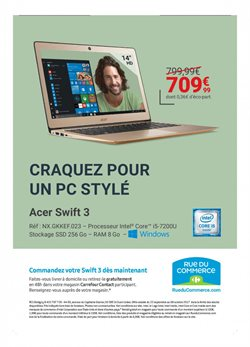 Promos de Ordinateur portable dans le prospectus de Carrefour Contact à Paris