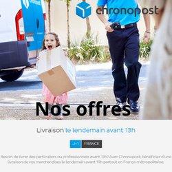 Promos de Banques et Assurances dans le prospectus à Chronopost ( Expire demain)