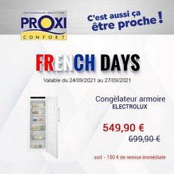 Promos de Multimédia et Électroménager dans le prospectus à Proxi Confort ( Expire demain)