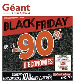 Offres Géant Casino Black Friday