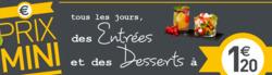 Promos de Restaurants dans le prospectus de Casino Cafétéria à Niort