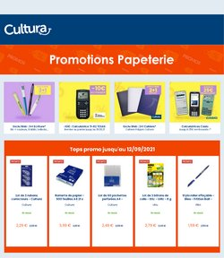 Promos de Culture et Loisirs dans le prospectus à Cultura ( Publié hier)