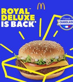 Promos de Restaurants dans le prospectus à McDonald's ( Plus d'un mois )