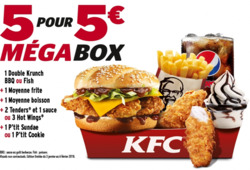 Promos de Restauration rapide dans le prospectus de KFC à Paris