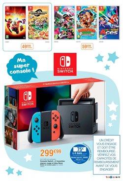 Promos de Nintendo Switch dans le prospectus de Toys R Us à Paris