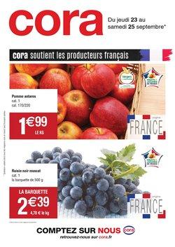 Promos de Hyper-Supermarchés dans le prospectus à Cora ( Expire ce jour)