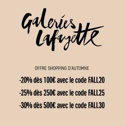 Promos de Galeries Lafayette dans le prospectus à Galeries Lafayette ( 15 jours de plus)