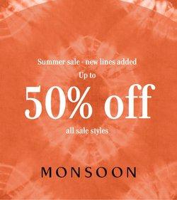 Promos de Monsoon dans le prospectus à Monsoon ( Plus d'un mois)