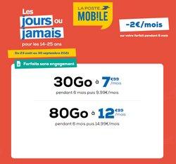 Promos de Services dans le prospectus à La Poste Mobile ( 3 jours de plus)