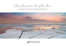 Promos de Voyages dans le prospectus de Ponant à Nice ( Plus d'un mois )