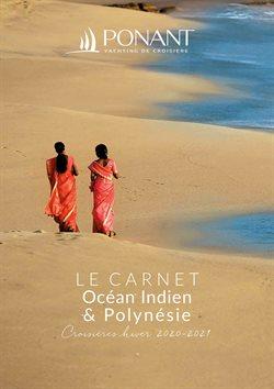 Promos de Voyages dans le prospectus de Ponant à Paris ( Plus d'un mois )