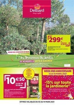 Promos de Jardineries et Animaleries dans le prospectus de Delbard à Marseille ( 7 jours de plus )
