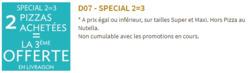 Promos de Speed Rabbit Pizza dans le prospectus à Paris