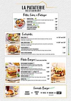 Promos de Restaurants dans le prospectus à La Pataterie ( 7 jours de plus)