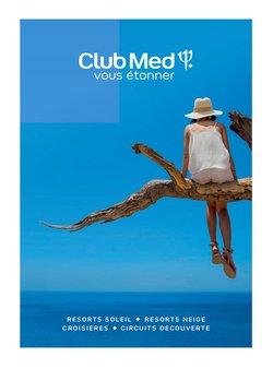 Promos de Voyages dans le prospectus à Club Med ( Plus d'un mois)