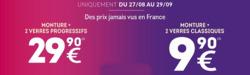 Promos de Opticiens et Soins dans le prospectus de Lynx Optique à Marseille
