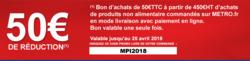 Promos de Metro dans le prospectus à Paris