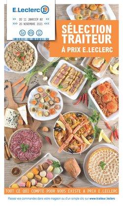 Promos de Hyper-Supermarchés dans le prospectus à E.Leclerc ( Plus d'un mois)