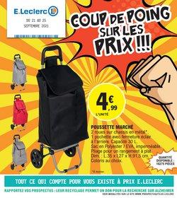 Promos de Hyper-Supermarchés dans le prospectus à E.Leclerc ( 2 jours de plus)
