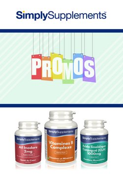 Simply Supplements coupon ( Publié hier )