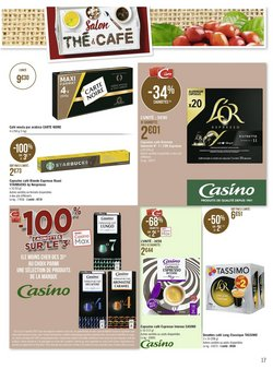 Promos de Nespresso dans le prospectus à Casino Supermarchés ( Expire ce jour)