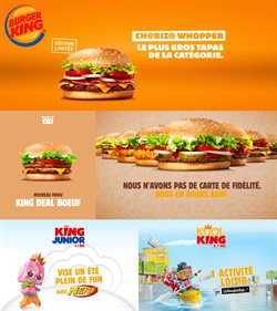 Promos de Restaurants dans le prospectus de Burger King à Paris