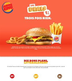 Promos de Restaurants dans le prospectus de Burger King à Poissy ( 6 jours de plus )
