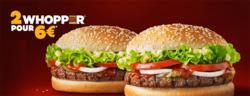 Promos de Restauration rapide dans le prospectus de Burger King à Paris