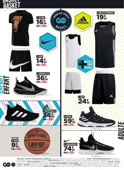 Promos de Adidas dans le prospectus à GO Sport ( 2 jours de plus)