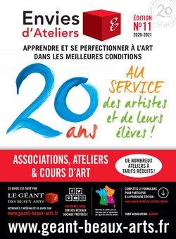 Promos de Le Géant des Beaux-Arts dans le prospectus à Le Géant des Beaux-Arts ( Plus d'un mois)