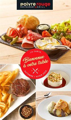 Promos de Restaurants dans le prospectus de Poivre Rouge à Paris ( 22 jours de plus )
