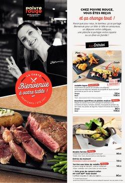 Promos de Restaurants dans le prospectus à Poivre Rouge ( 3 jours de plus)