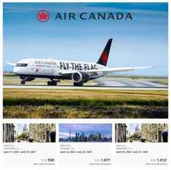 Promos de Voyages dans le prospectus à Air Canada ( 12 jours de plus)