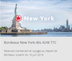 Promos de Air Canada dans le prospectus à Paris