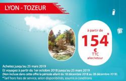 Promos de Tunisair dans le prospectus à Paris