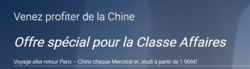 Promos de Air China dans le prospectus à Paris