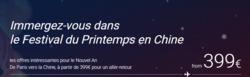 Promos de Air China dans le prospectus à Paris