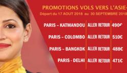 Promos de Air India dans le prospectus à Paris