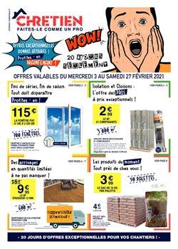 Chretien Matériaux coupon ( Expiré )
