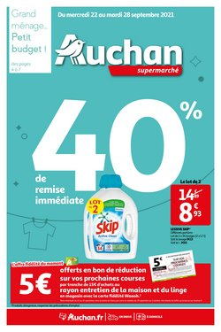 Promos de Auchan Supermarché dans le prospectus à Auchan Supermarché ( 3 jours de plus)