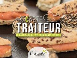 Promos de Restaurants dans le prospectus à Crescendo ( Plus d'un mois)