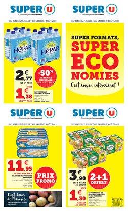 Promos de Hyper-Supermarchés dans le prospectus à Super U ( 3 jours de plus)