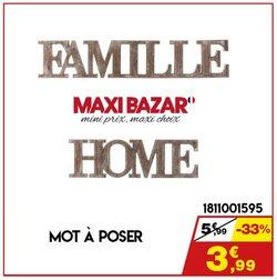 Maxi Bazar coupon ( Expire ce jour)