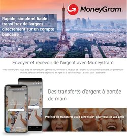 Promos de Services dans le prospectus à MoneyGram ( Plus d'un mois)