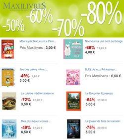 Promos de Librairies dans le prospectus à Maxilivres ( 9 jours de plus)