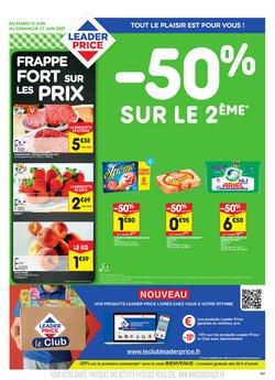 Promos de Hyper-Supermarchés dans le prospectus à Leader Price ( 4 jours de plus)