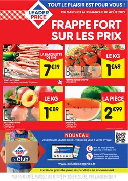 Promos de Hyper-Supermarchés dans le prospectus à Leader Price ( Publié hier)
