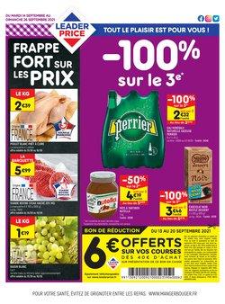 Promos de Hyper-Supermarchés dans le prospectus à Leader Price ( 2 jours de plus)
