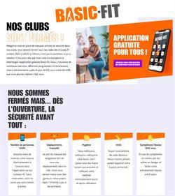 Promos de Sport dans le prospectus à Basic Fit ( Expire ce jour )