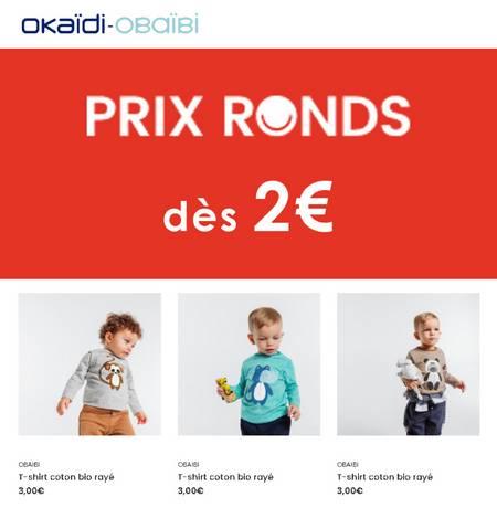 Prix Ronds dès 2€!!